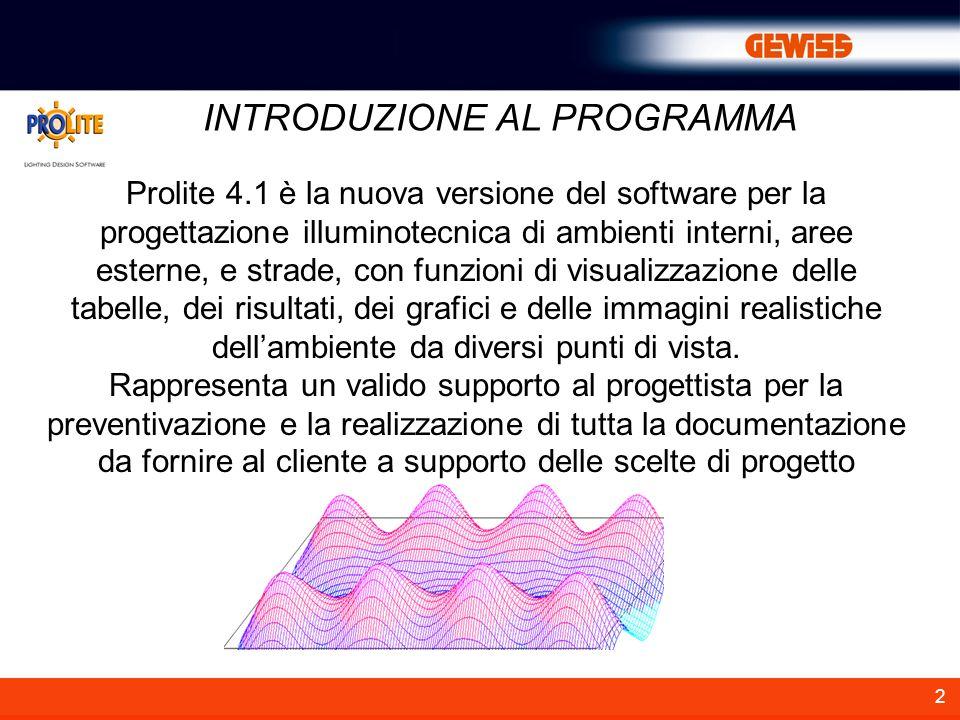 2 Prolite 4.1 è la nuova versione del software per la progettazione illuminotecnica di ambienti interni, aree esterne, e strade, con funzioni di visua