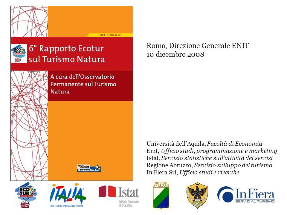 Il Rapporto 2008 Capitolo 1 Il Turismo Natura nellodierna economia di Tommaso Paolini Il Turismo nei parchi nazionali e regionali in Italia.
