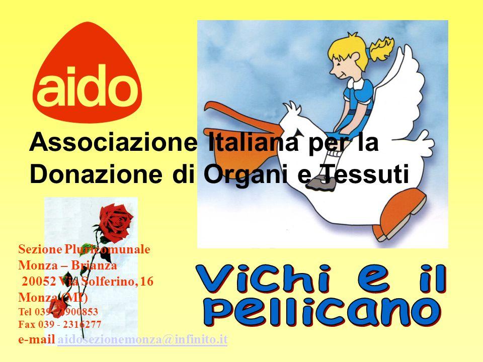 Associazione Italiana per la Donazione di Organi e Tessuti Sezione Pluricomunale Monza – Brianza 20052 Via Solferino, 16 Monza (MI) Tel 039 - 3900853