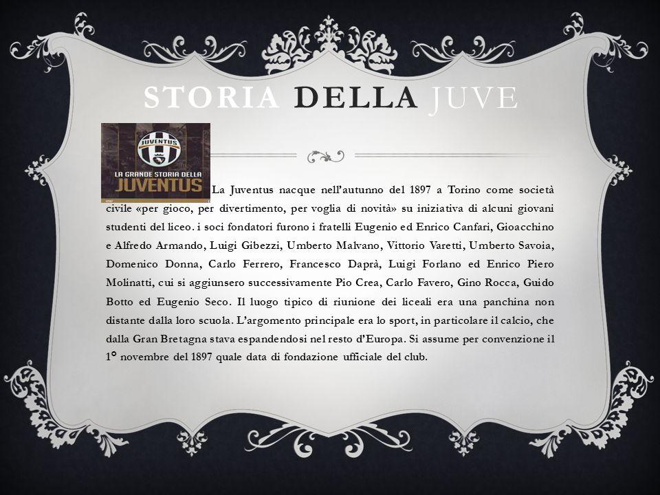 STORIA DELLA JUVE La Juventus nacque nellautunno del 1897 a Torino come società civile «per gioco, per divertimento, per voglia di novità» su iniziati