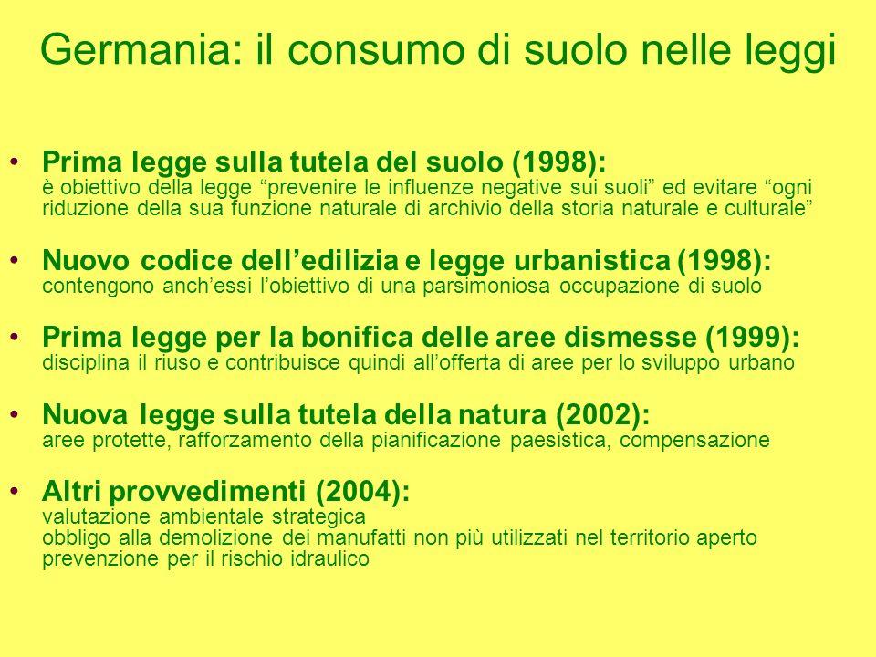 Italia: proposta di legge urbanistica Principi fondamentali in materia di pianificazione del territorio Articolo 7.