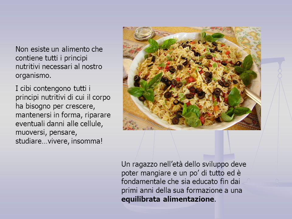 Anche gli alimenti si suddividono in tre grandi categorie.