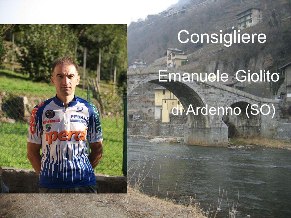 Emanuele Giolito Consigliere di Ardenno (SO)