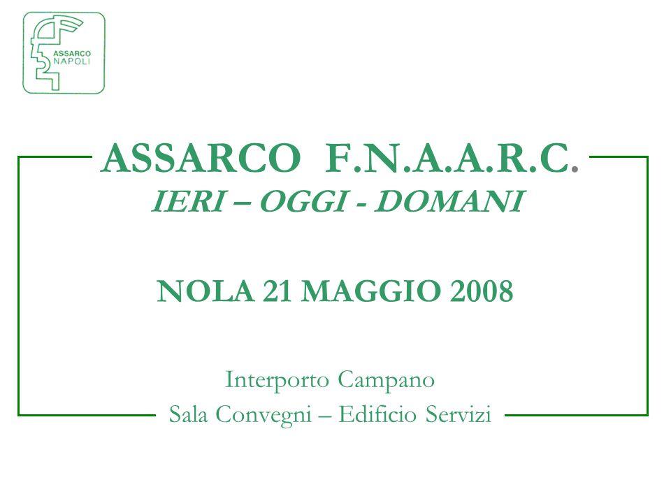 NOLA 21 MAGGIO 2008 Interporto Campano Sala Convegni – Edificio Servizi ASSARCO F.N.A.A.R.C. IERI – OGGI - DOMANI