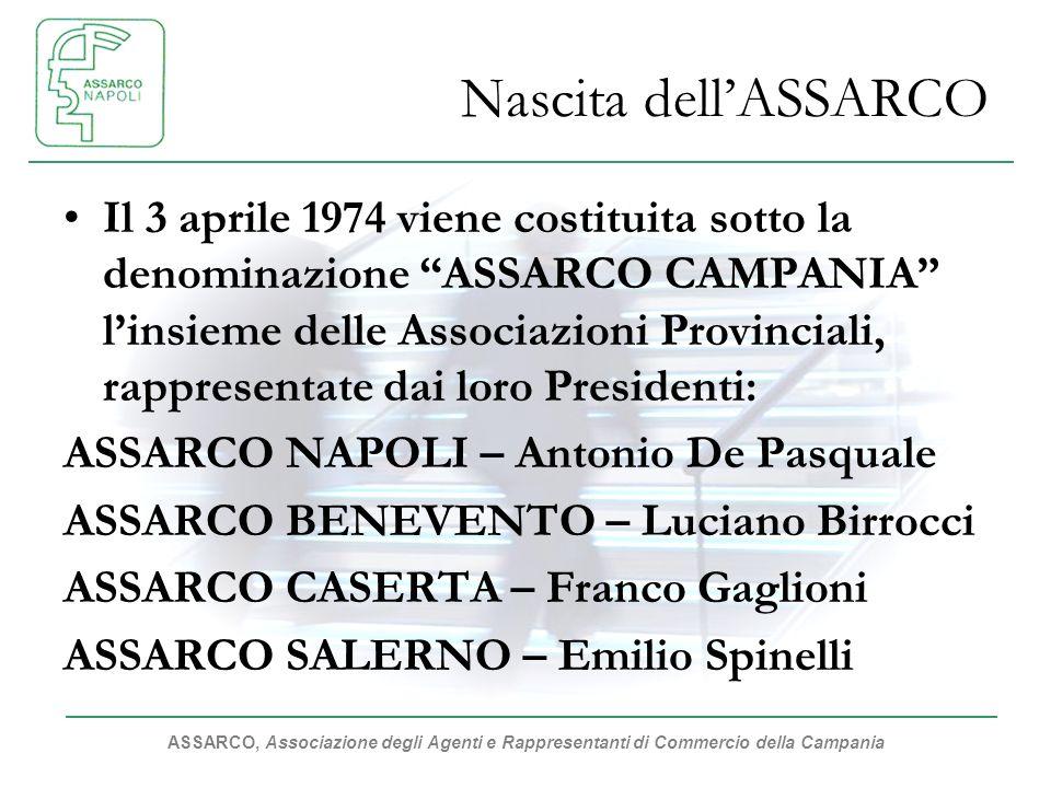 ASSARCO, Associazione degli Agenti e Rappresentanti di Commercio della Campania Nascita dellASSARCO Il 3 aprile 1974 viene costituita sotto la denomin