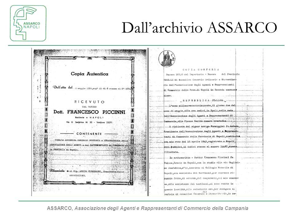 ASSARCO, Associazione degli Agenti e Rappresentanti di Commercio della Campania Dallarchivio ASSARCO