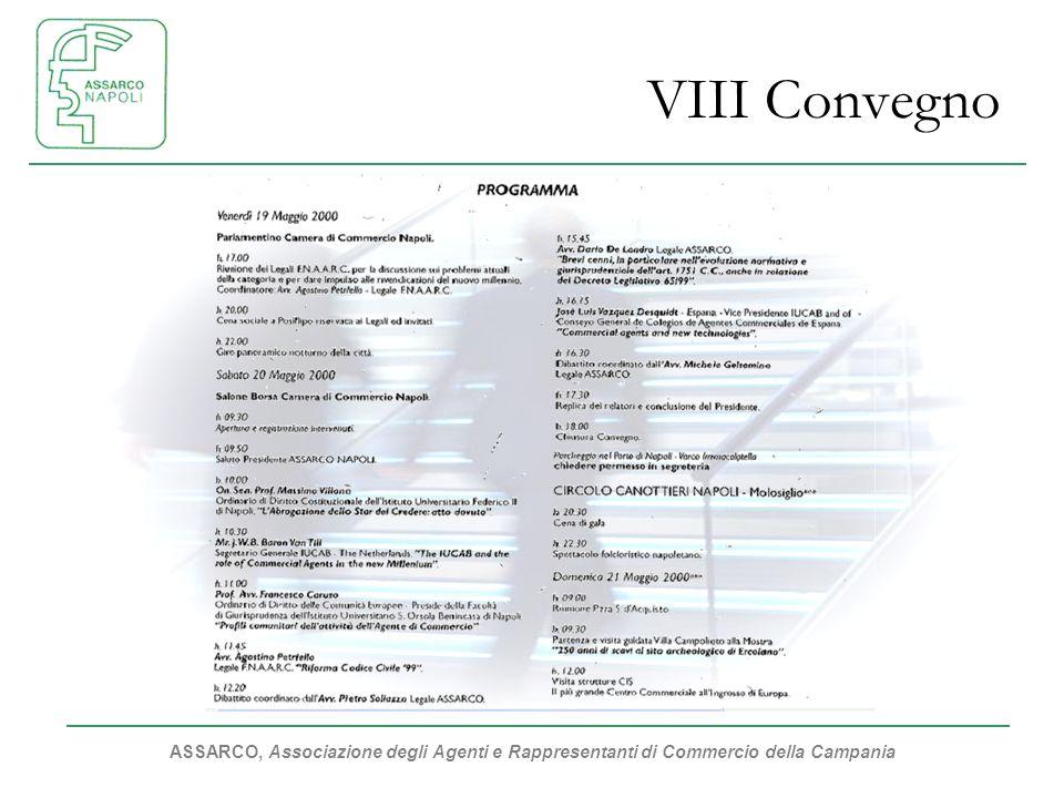 ASSARCO, Associazione degli Agenti e Rappresentanti di Commercio della Campania VIII Convegno