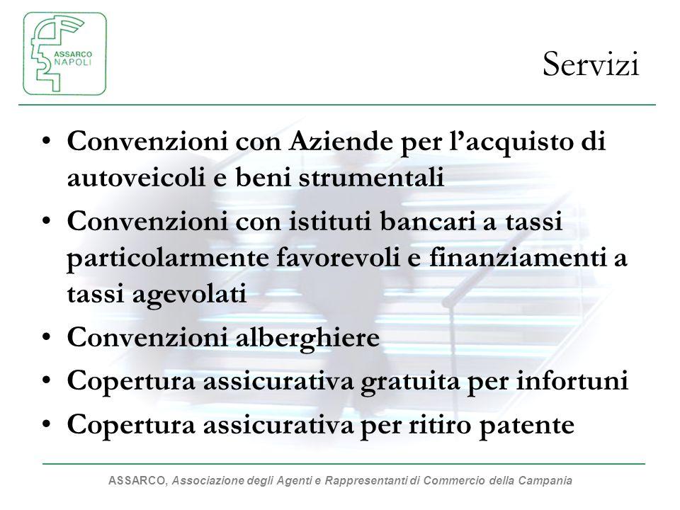 ASSARCO, Associazione degli Agenti e Rappresentanti di Commercio della Campania Servizi Convenzioni con Aziende per lacquisto di autoveicoli e beni st