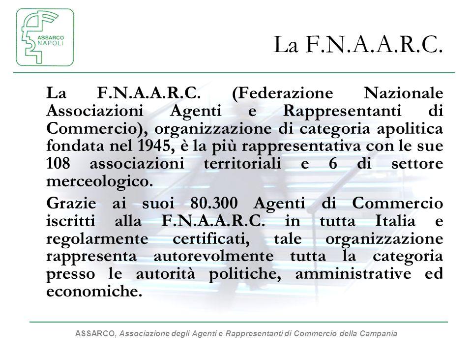 ASSARCO, Associazione degli Agenti e Rappresentanti di Commercio della Campania La F.N.A.A.R.C. La F.N.A.A.R.C. (Federazione Nazionale Associazioni Ag