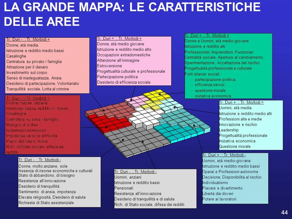 44 LA GRANDE MAPPA: LE CARATTERISTICHE DELLE AREE