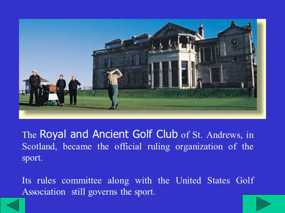 Il Royal and Ancient Golf Club di St.