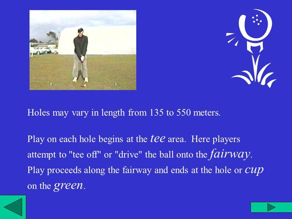 Ad ogni buca il gioco comincia dallarea del tee da cui i giocatori tirano la palla in fairway.
