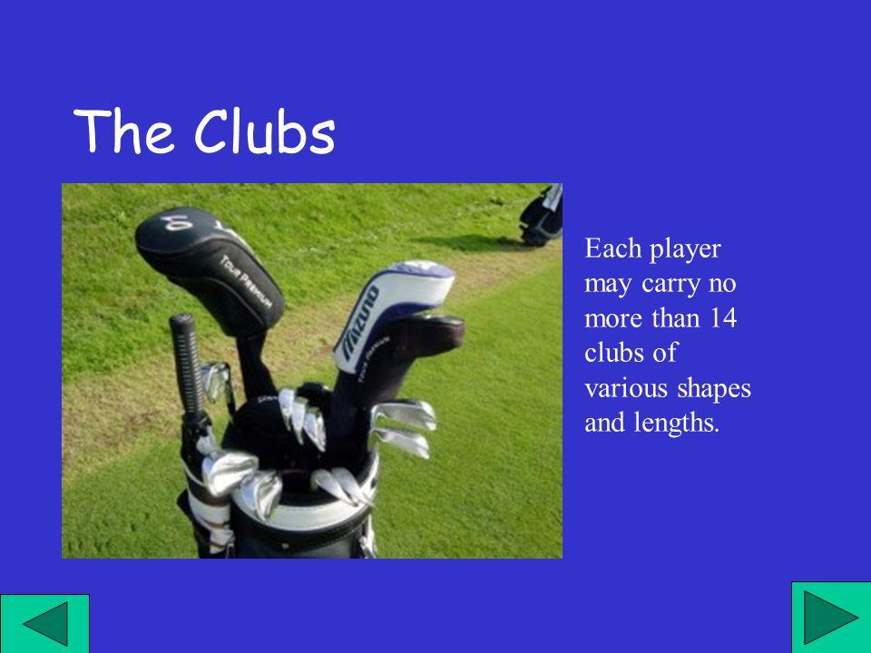 Il giocatore può portare fino ad un massimo di 14 bastoni di varie forme, misure e lunghezze.