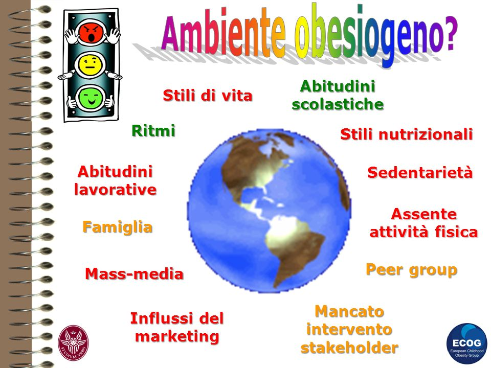 Stili di vita Stili nutrizionali Abitudini scolastiche Abitudini lavorative Ritmi Sedentarietà Assente attività fisica Mass-media Influssi del marketi