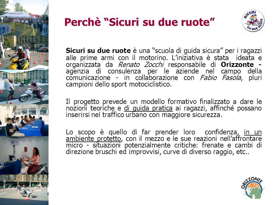 Perchè Sicuri su due ruote Sicuri su due ruote è una scuola di guida sicura per i ragazzi alle prime armi con il motorino.