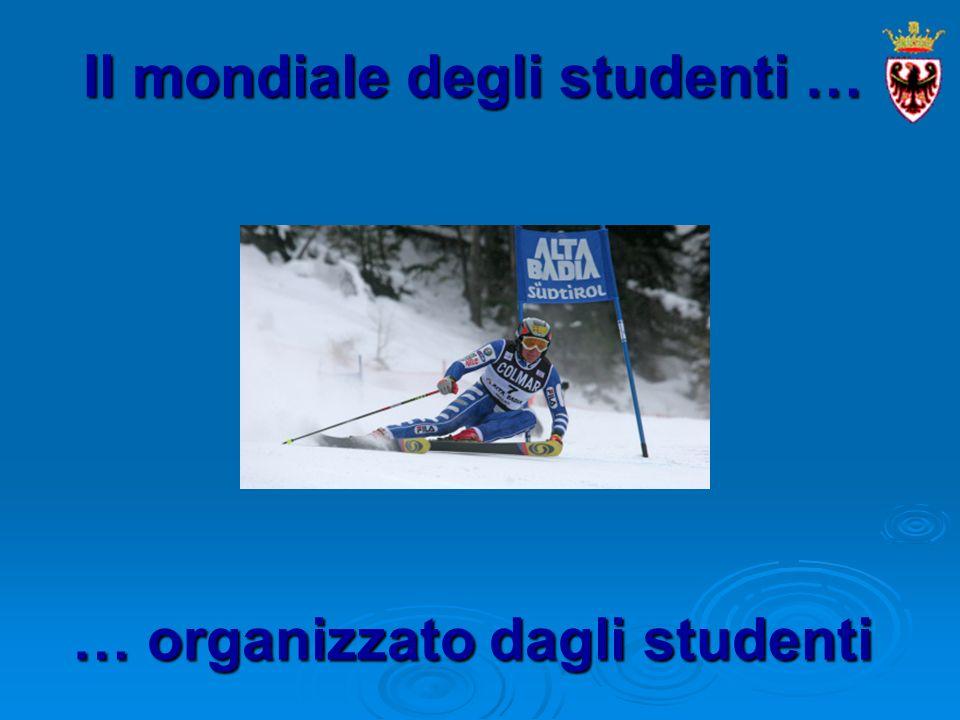 Il mondiale degli studenti … … organizzato dagli studenti