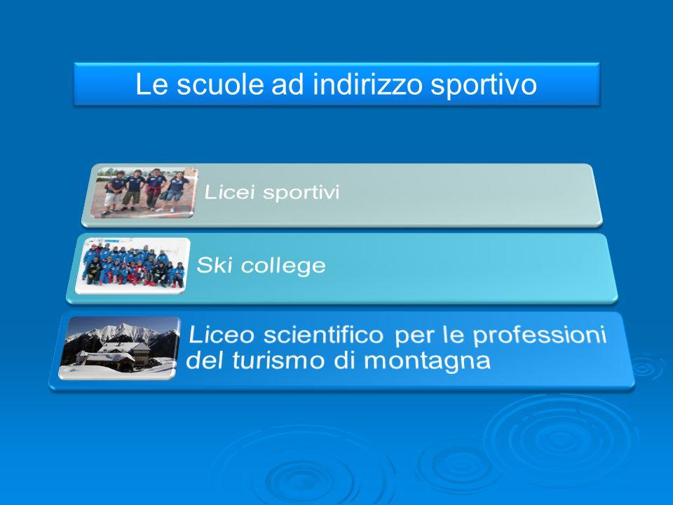 Le scuole ad indirizzo sportivo