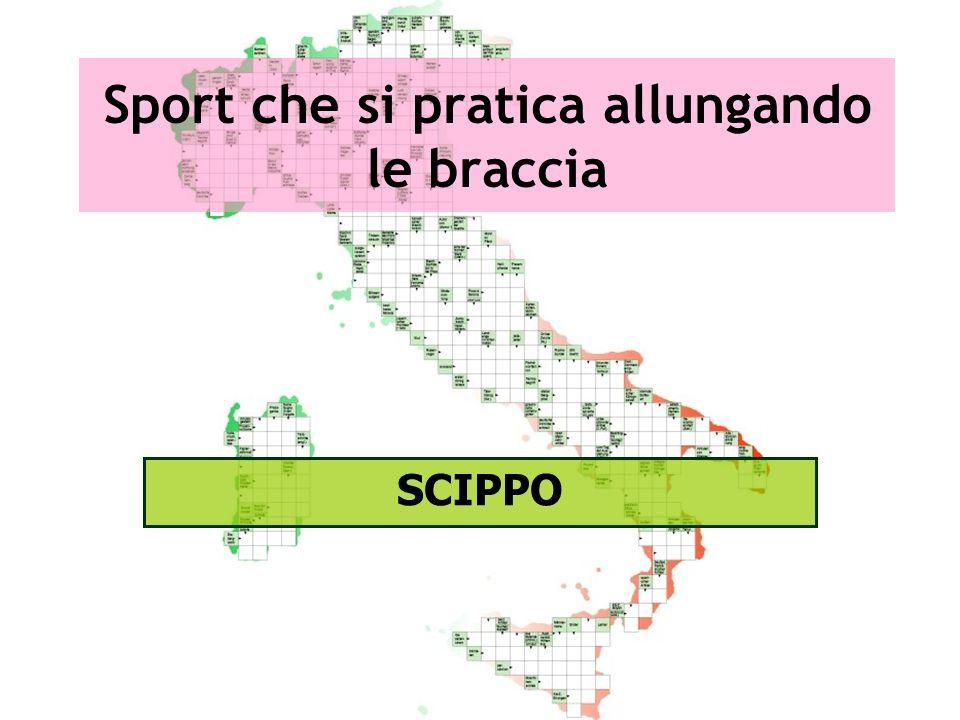 Sport che si pratica allungando le braccia SCIPPO