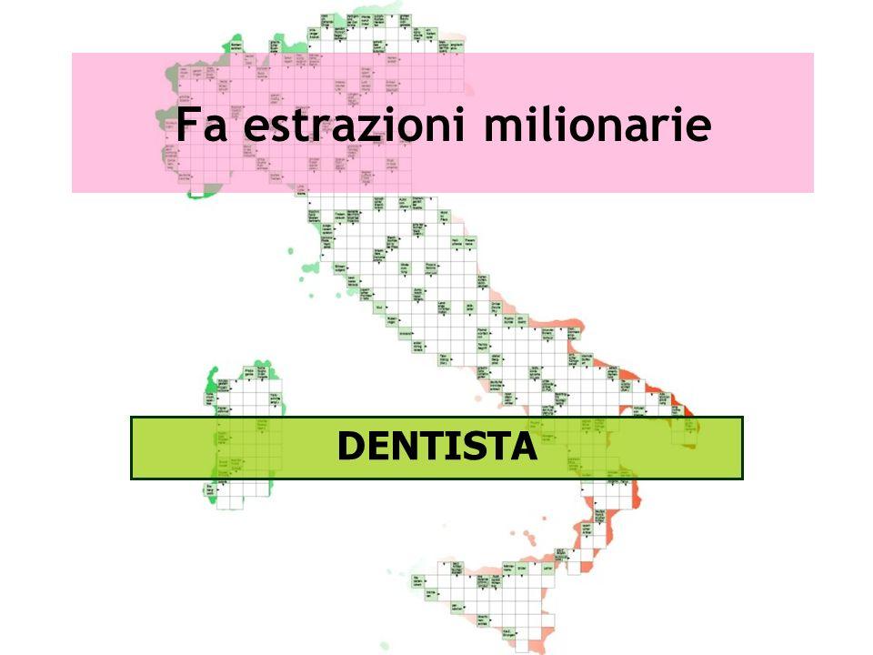 Fa estrazioni milionarie DENTISTA