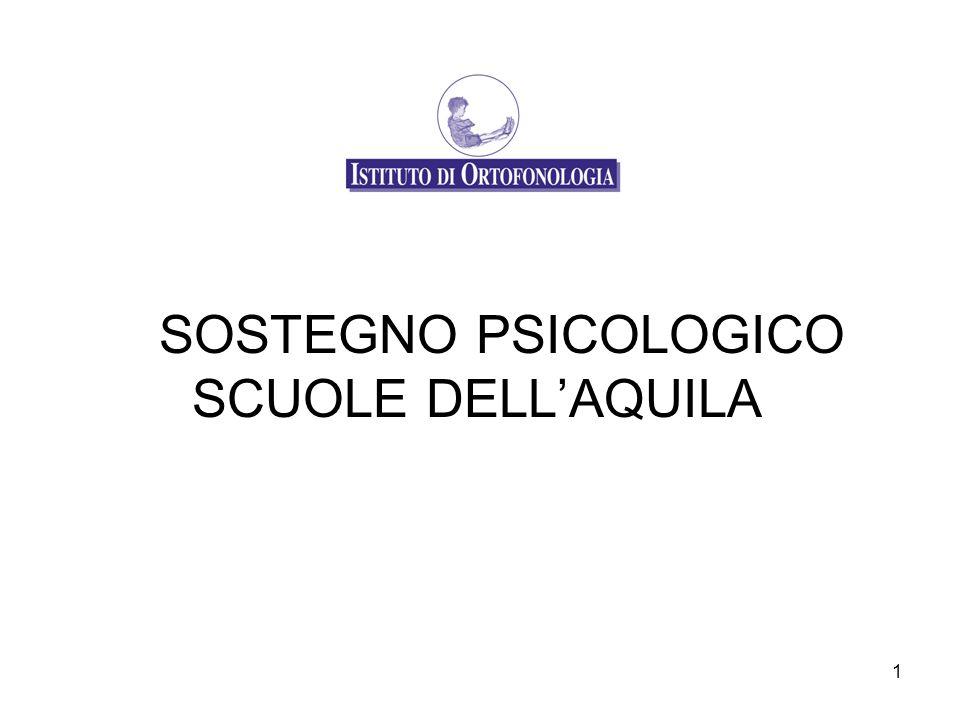1 SOSTEGNO PSICOLOGICO SCUOLE DELLAQUILA