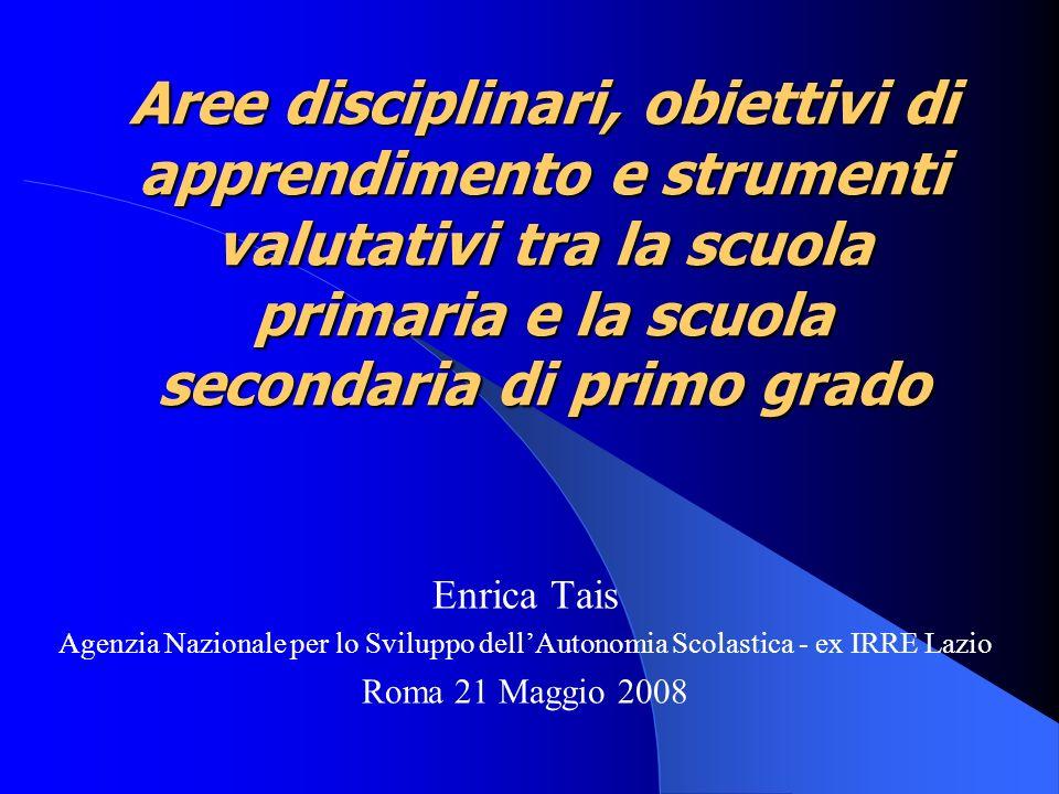 Enrica Tais - Agenzia Nazionale per lo Sviluppo dell Autonomia Scolastica ex IRRE Lazio - Roma 21/5/2008 32 e gli alunni.