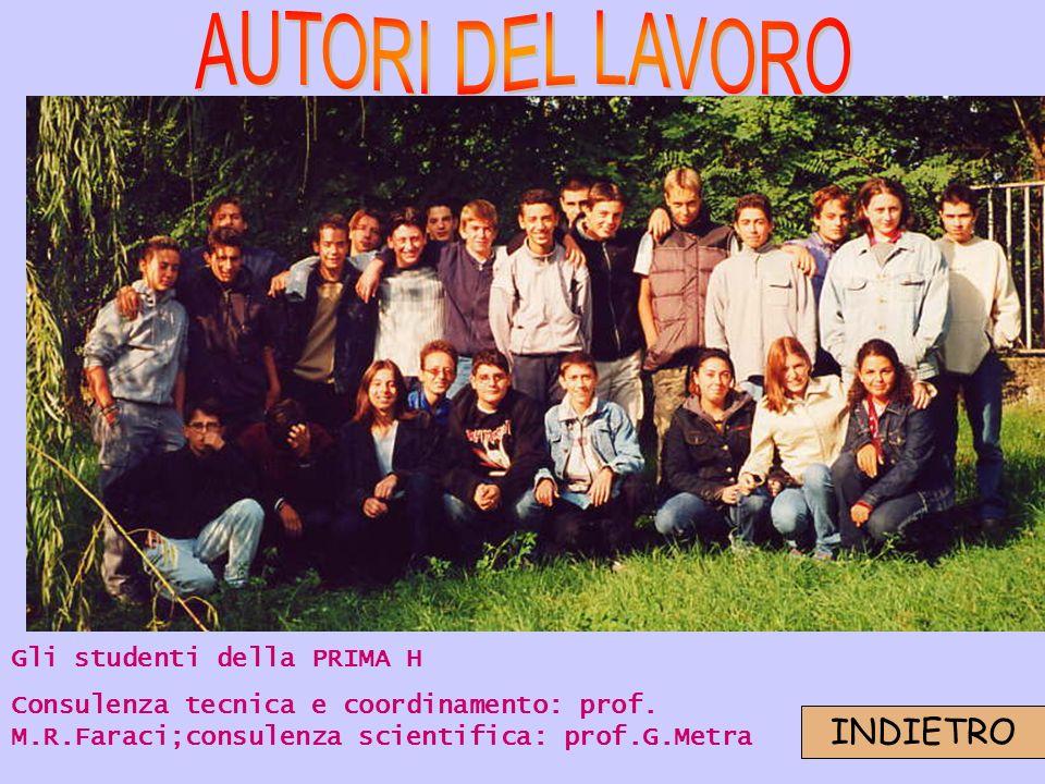Gli studenti della PRIMA H Consulenza tecnica e coordinamento: prof.