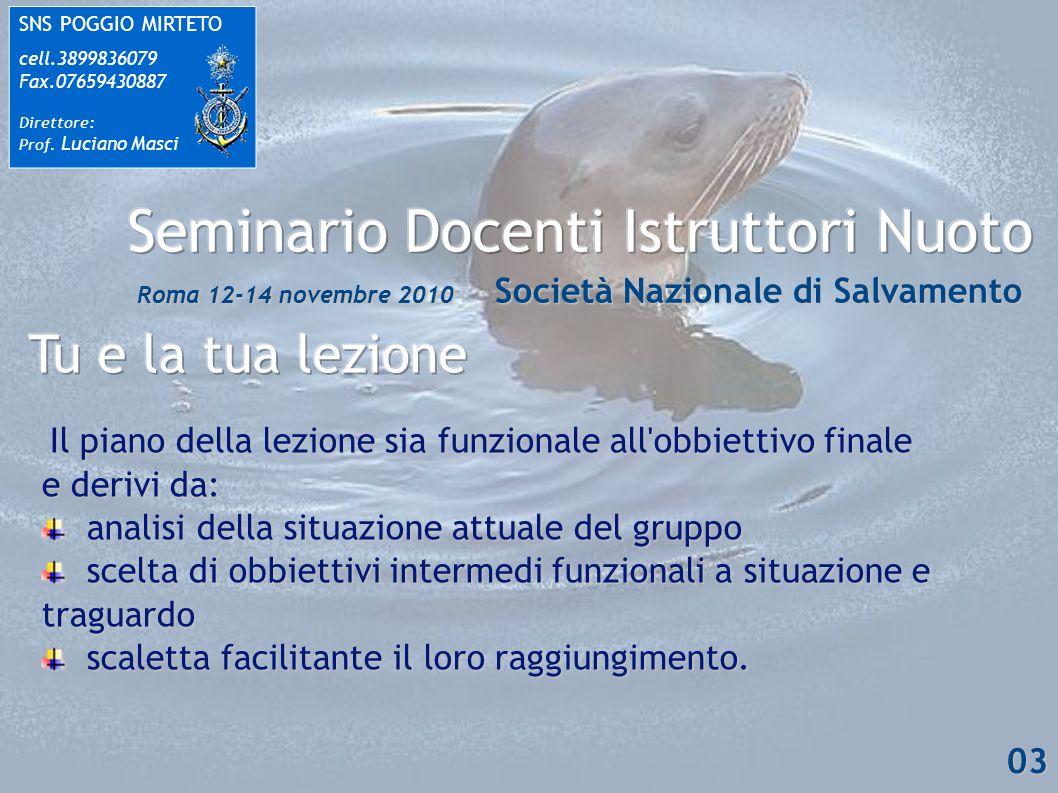 SNS POGGIO MIRTETO cell.3899836079 Fax.07659430887 Direttore: Prof.