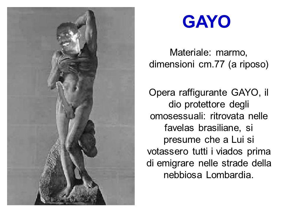 MOSATTI Materiale: marmo. Lo scultore ha sfruttato lattonita immobilità del modello a causa dello shock subito per lennesima figuraccia. La seggiola s