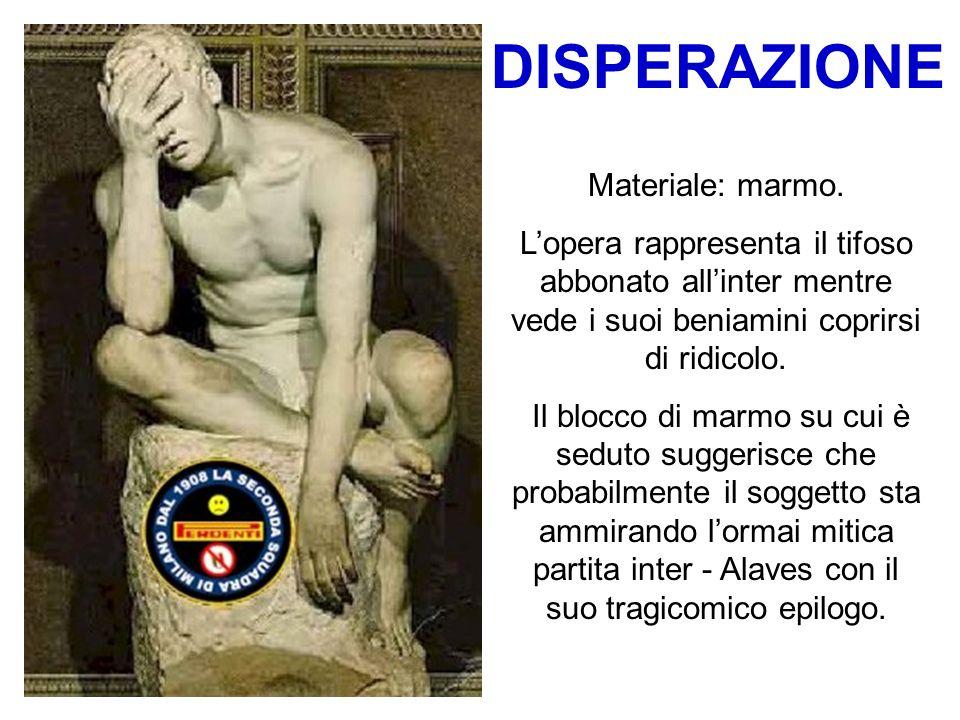 DISPERAZIONE Materiale: marmo.