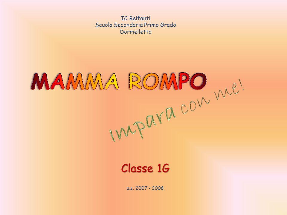 Classe 1G a.s. 2007 - 2008 IC Belfanti Scuola Secondaria Primo Grado Dormelletto