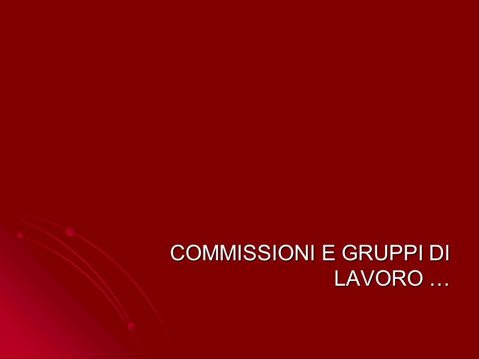 COMMISSIONI E GRUPPI DI LAVORO … COMMISSIONI E GRUPPI DI LAVORO …