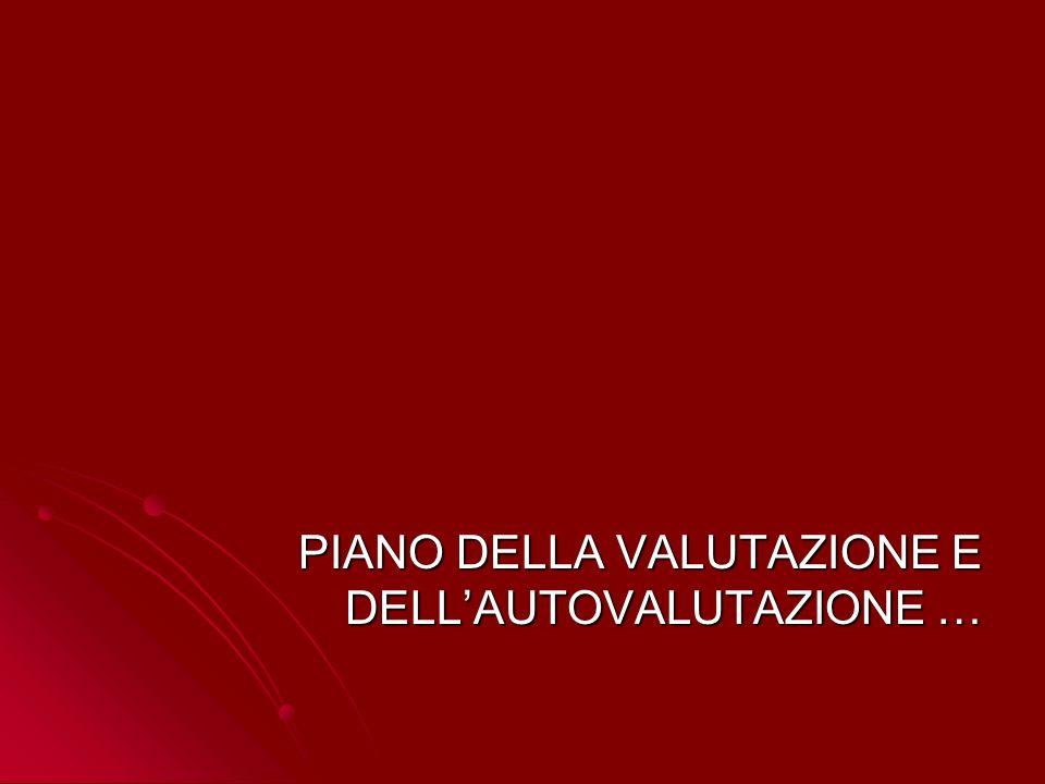 PIANO DELLA VALUTAZIONE E DELLAUTOVALUTAZIONE …