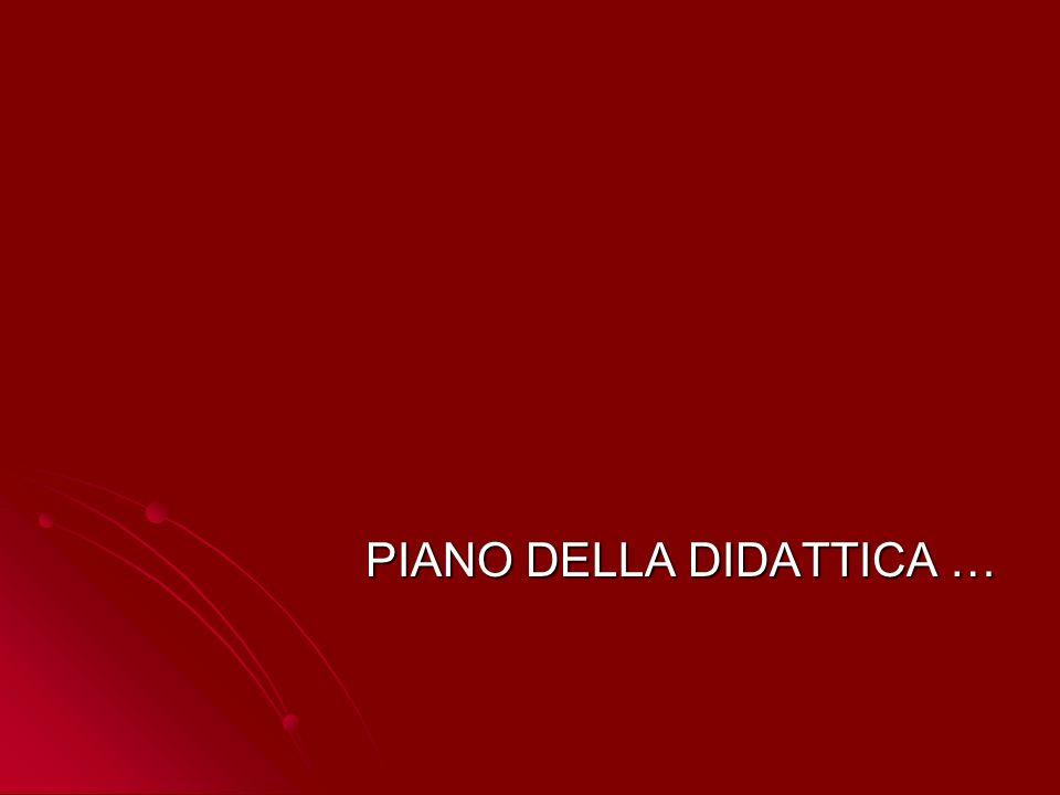 PIANO DELLA DIDATTICA …