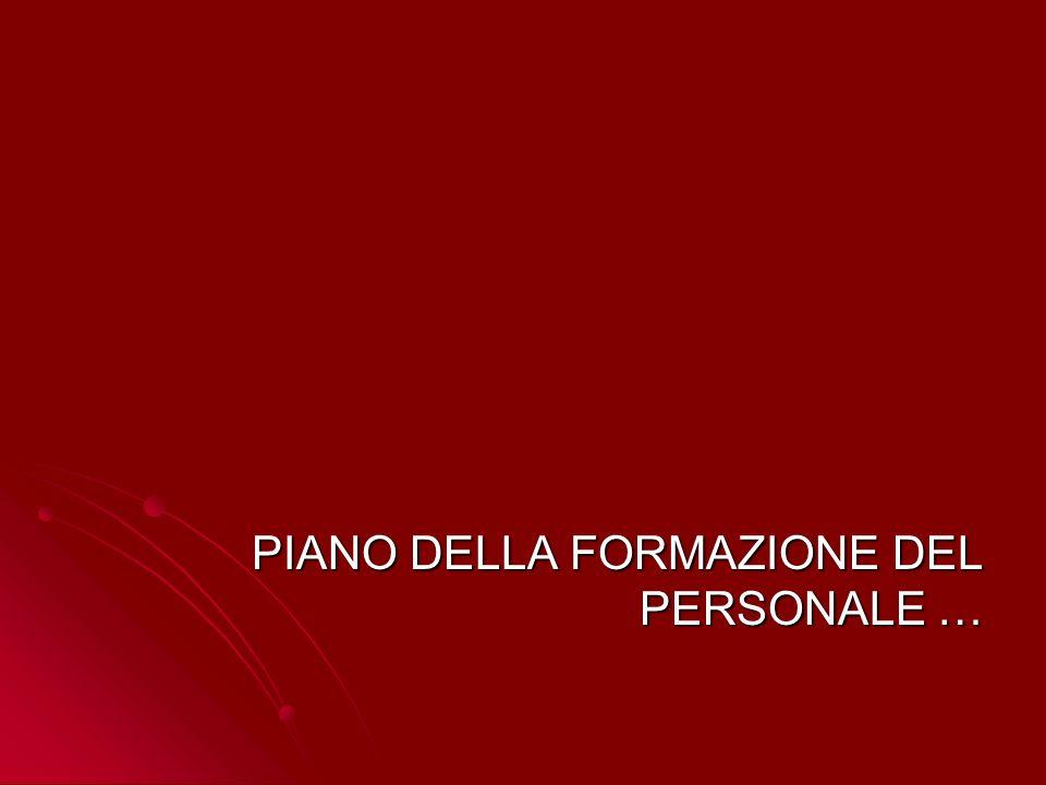 PIANO DELLA FORMAZIONE DEL PERSONALE …