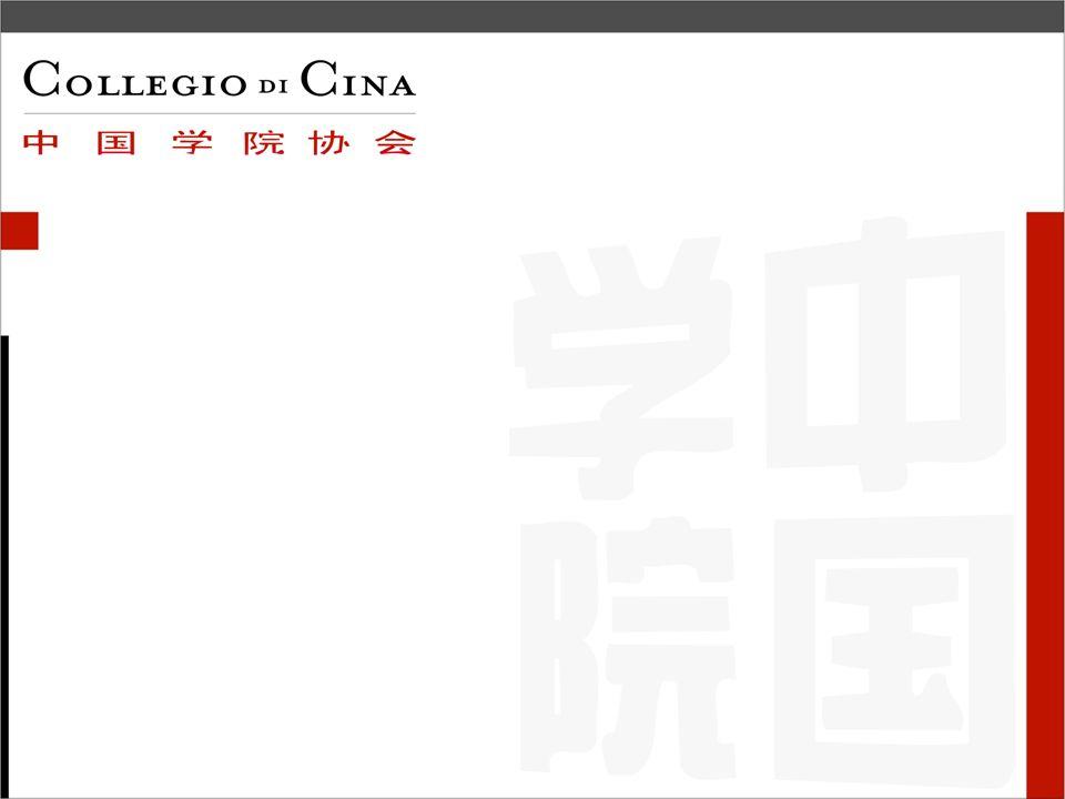 La nascita dellAssociazione Collegio di Cina Breve cronistoria dicembre 2004, visita di Stato dellex Presidente della Repubblica Carlo Azeglio Ciampi 5 settembre 2005, nasce a Bologna la residenza Collegio di Cina, prima in Italia, che coordina lospitalità dei 112 studenti cinesi attualmente iscritti allUniversità di Bologna 3 ottobre 2005, nasce lAssociazione Collegio di Cina 30 novembre 2005, presentazione dellAssociazione Collegio di Cina presso lIstituto Italiano di Cultura, Beijing