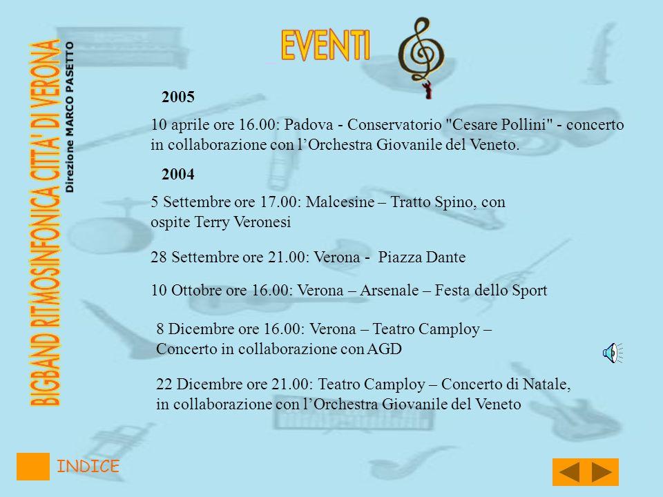 2005 INDICE 10 aprile ore 16.00: Padova - Conservatorio