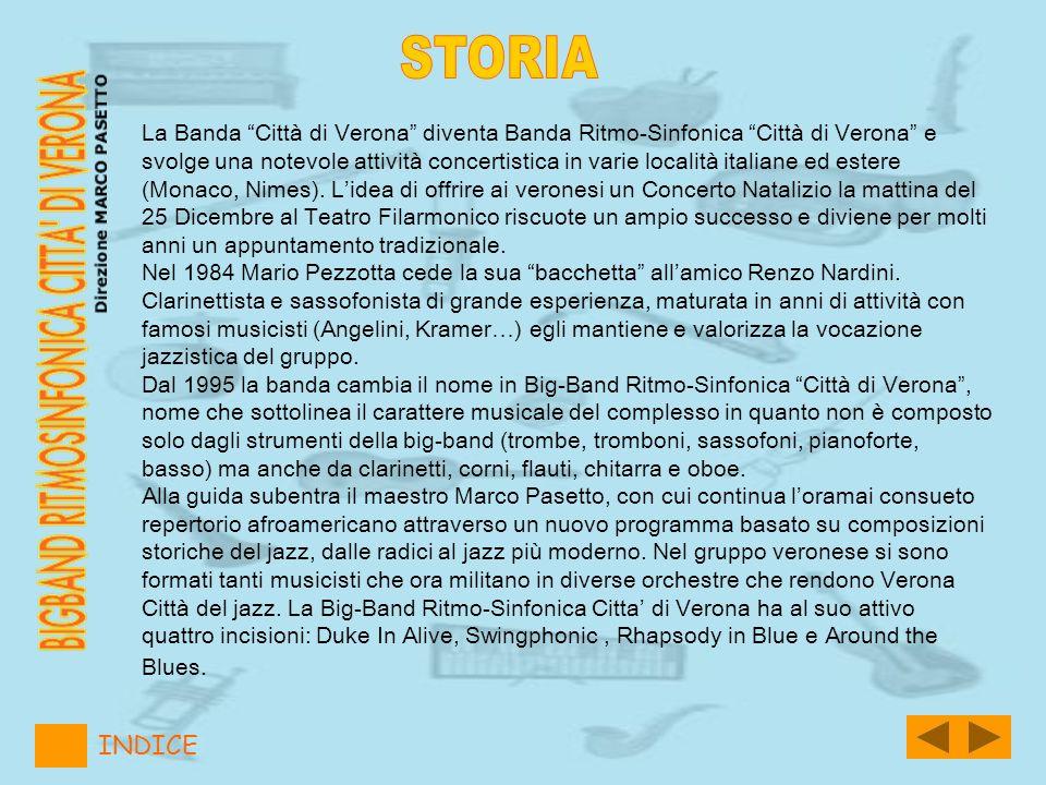 La Banda Città di Verona diventa Banda Ritmo-Sinfonica Città di Verona e svolge una notevole attività concertistica in varie località italiane ed este