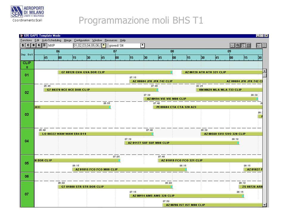 Programmazione moli BHS T1 Coordinamento Scali