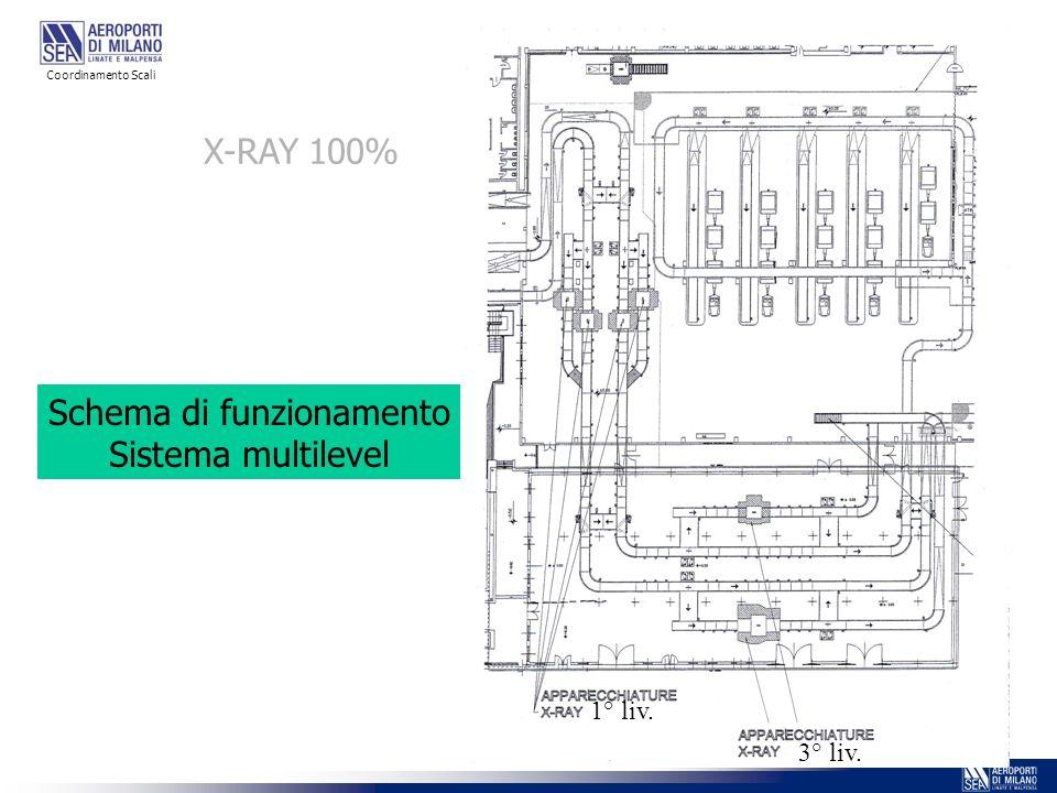 1° liv. 3° liv. X-RAY 100% Schema di funzionamento Sistema multilevel Coordinamento Scali