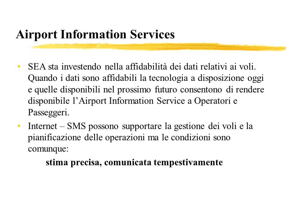 Airport Information Services SEA sta investendo nella affidabilità dei dati relativi ai voli.