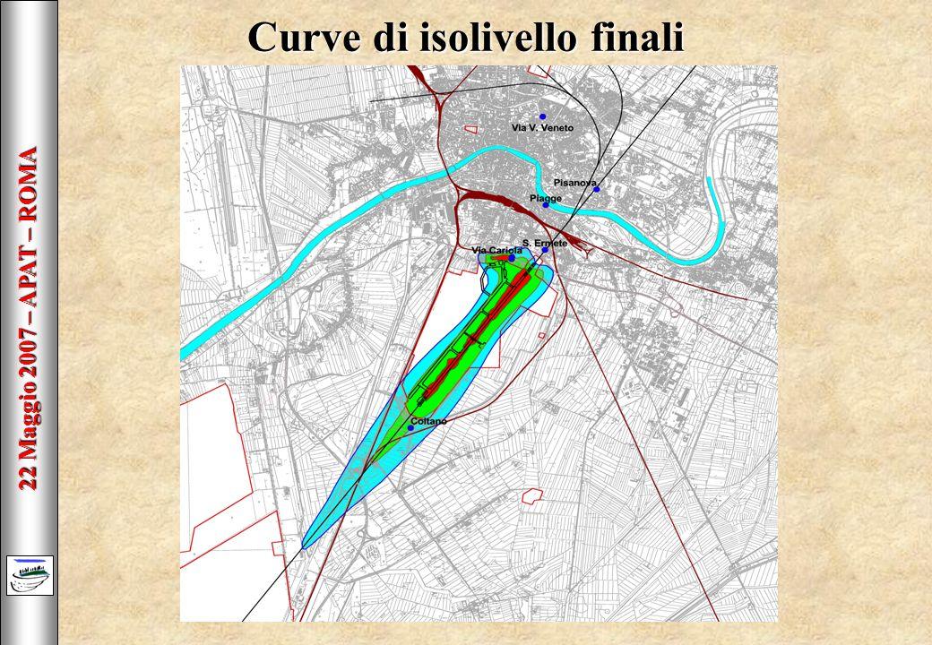 22 Maggio 2007 – APAT – ROMA Curve di isolivello finali
