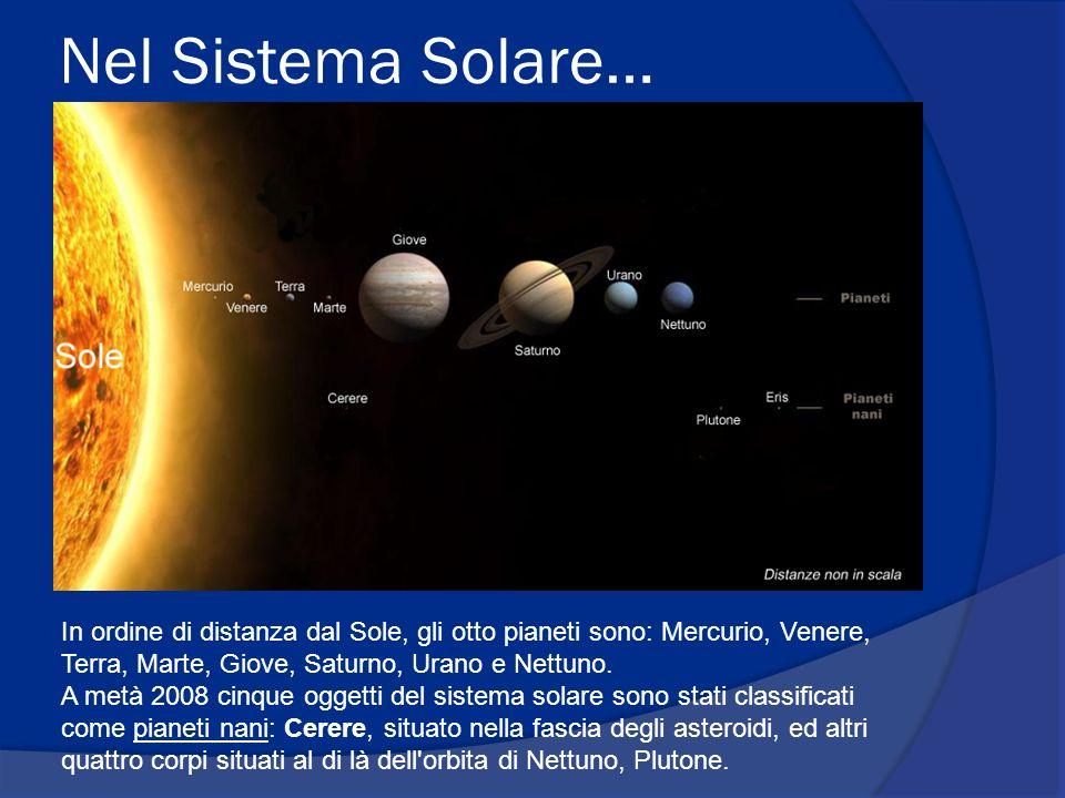 Origine del Sistema Solare Si ritiene che il Sole e i pianeti si siano formati da una nebulosa di gas interstellari in contrazione, circa 4,6 miliardi di anni fa; In pochi milioni di anni, nella zona centrale, la densità e la temperatura sarebbero aumentate e si sarebbe formato il proto-Sole; Contemporaneamente, la contrazione avrebbe causato un aumento della velocità di rotazione e della forza centrifuga del sistema, così che la nube si sarebbe appiattita, assumendo un aspetto simile a un disco rotante intorno al Sole.