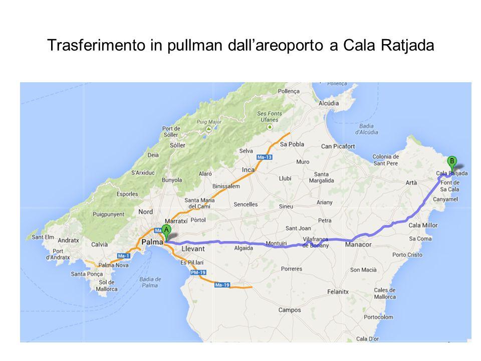 Trasferimento in pullman dallareoporto a Cala Ratjada