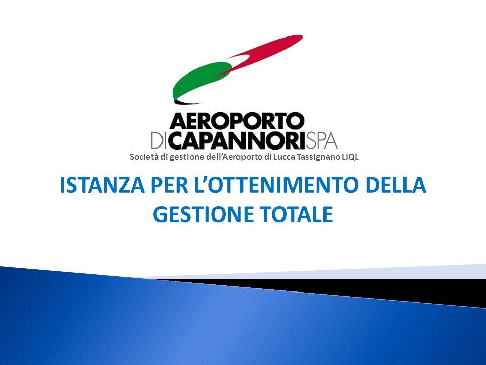 Società di gestione dellAeroporto di Lucca Tassignano LIQL ISTANZA PER LOTTENIMENTO DELLA GESTIONE TOTALE