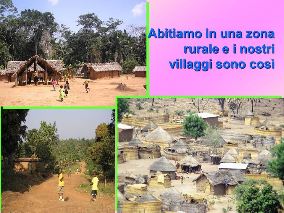 Abitiamo in una zona rurale e i nostri villaggi sono così