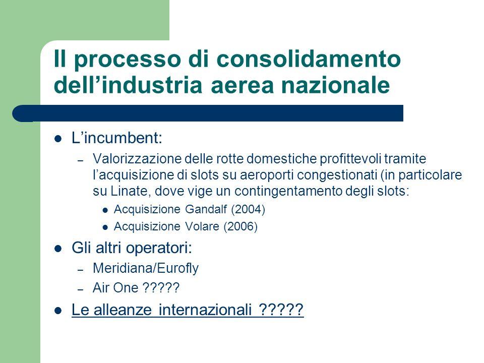 Loperazione Alitalia-Volare La valutazione delloperazione effettuata da AGCM ha molti elementi di similitudine con limpostazione tradizionalmente seguita dalla Commissione nelle operazioni di merger nel settore aereo (cfr.