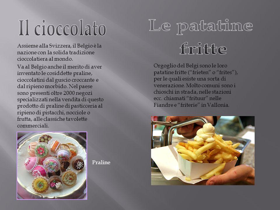 Assieme alla Svizzera, il Belgio è la nazione con la solida tradizione cioccolatiera al mondo. Va al Belgio anche il merito di aver inventato le cosid