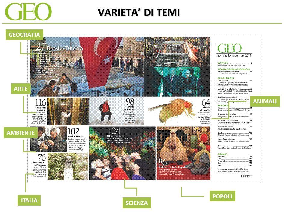 VARIETA DI TEMI GEOGRAFIA SCIENZA AMBIENTE ARTE ITALIA ANIMALI POPOLI