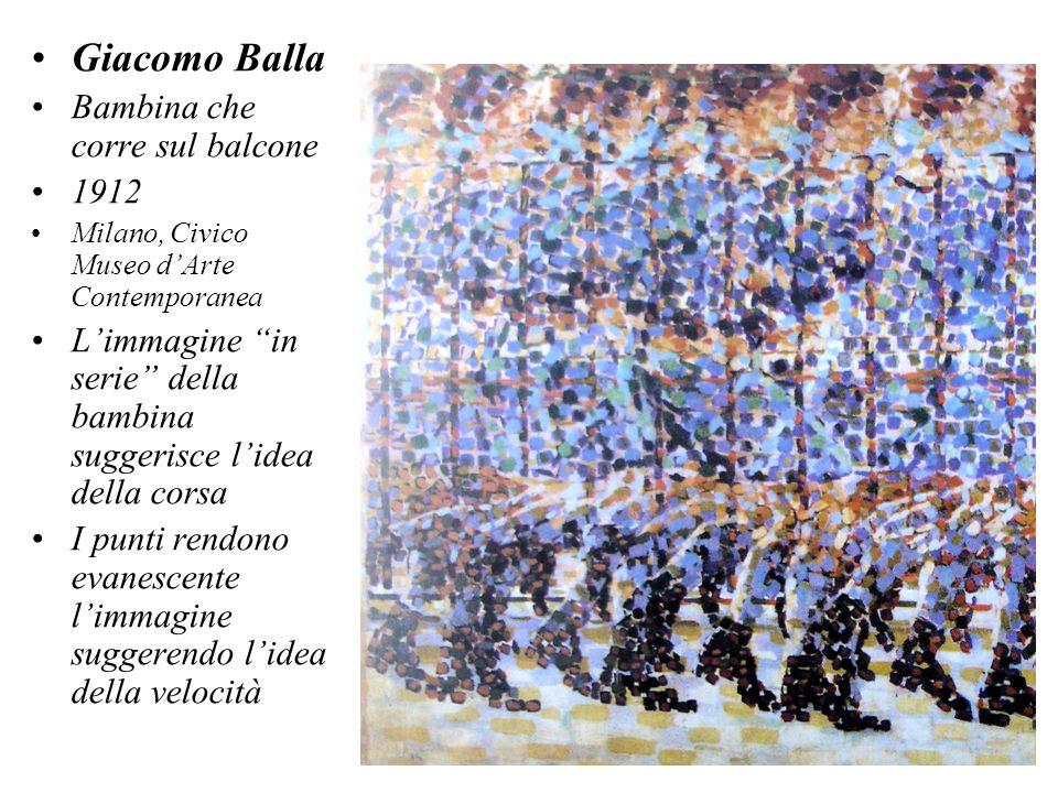 Giacomo Balla Bambina che corre sul balcone 1912 Milano, Civico Museo dArte Contemporanea Limmagine in serie della bambina suggerisce lidea della cors