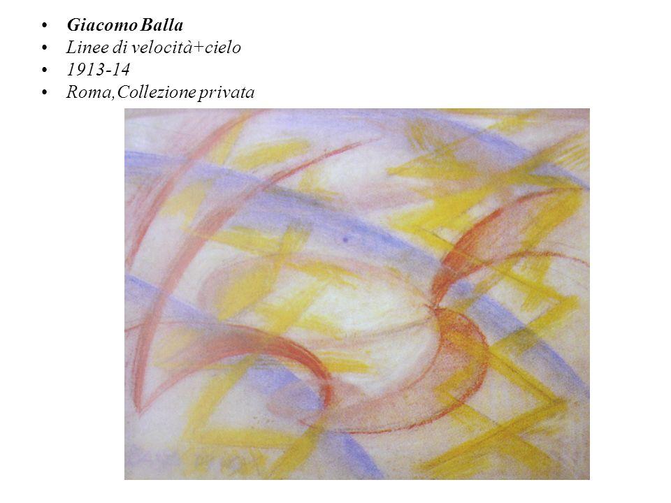 Giacomo Balla Linee di velocità+cielo 1913-14 Roma,Collezione privata